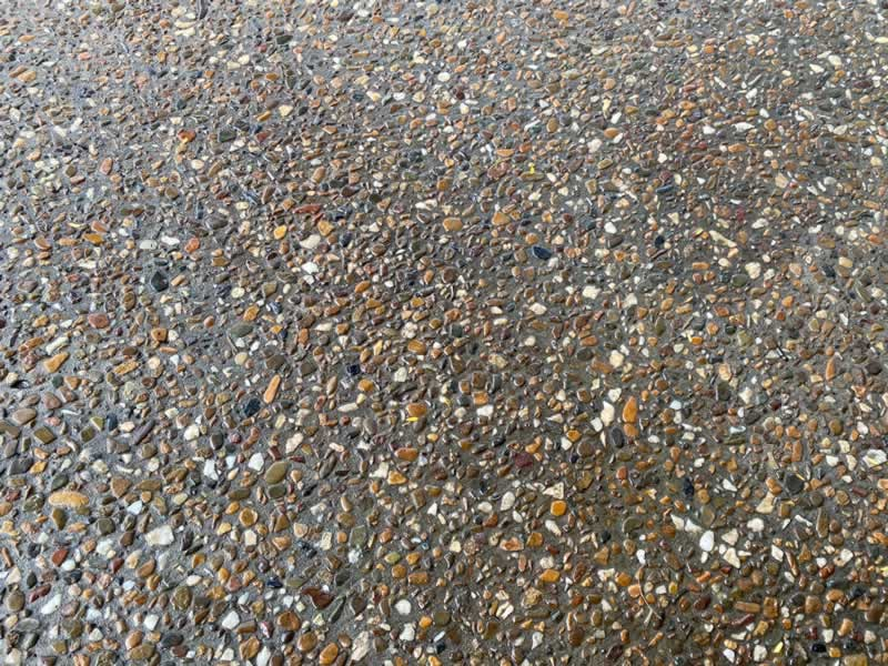 Popular Concrete Driveway Finishes - exposed aggregate sealed