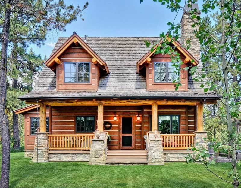 The Benefits Of Log Home Kits And Log Home Plans - look