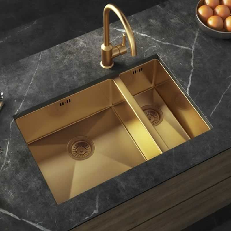Unique Kitchen Inspiration Ideas - golden sink