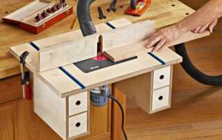 How to Plane Wood with a Router - mounted router