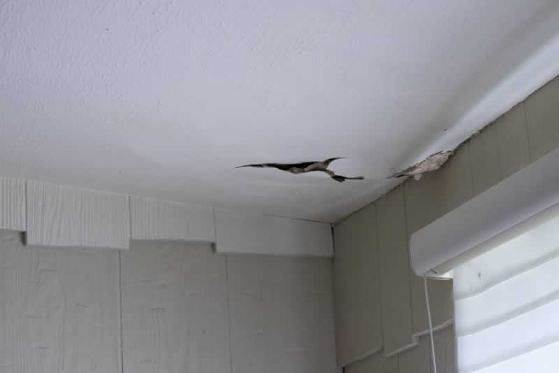 How to deal with ceiling water damage