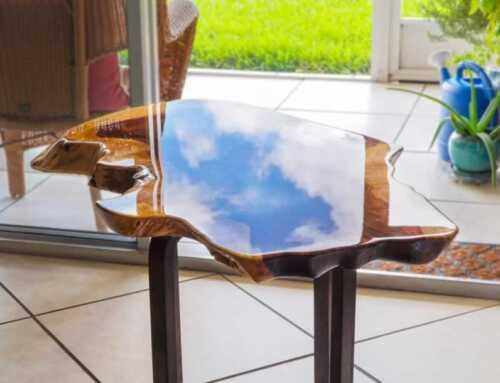 Making A DIY Epoxy Tabletop, creative handmade gift