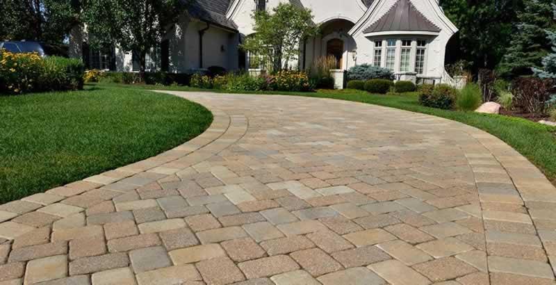 Concrete Driveway Vs. A Brick Driveway - brick driveway