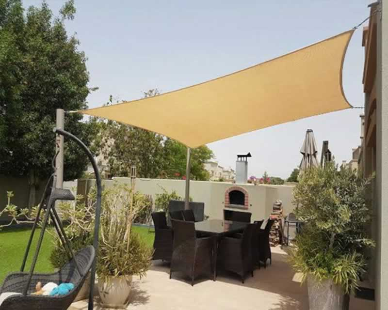 How to Use Shade Canopies Around Your Home or Business - backyard