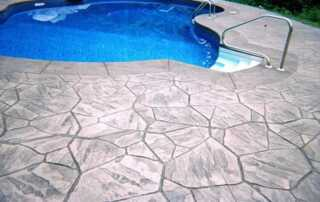 Pool Decks - Pavers Vs. Stamped Concrete - stamped concrete