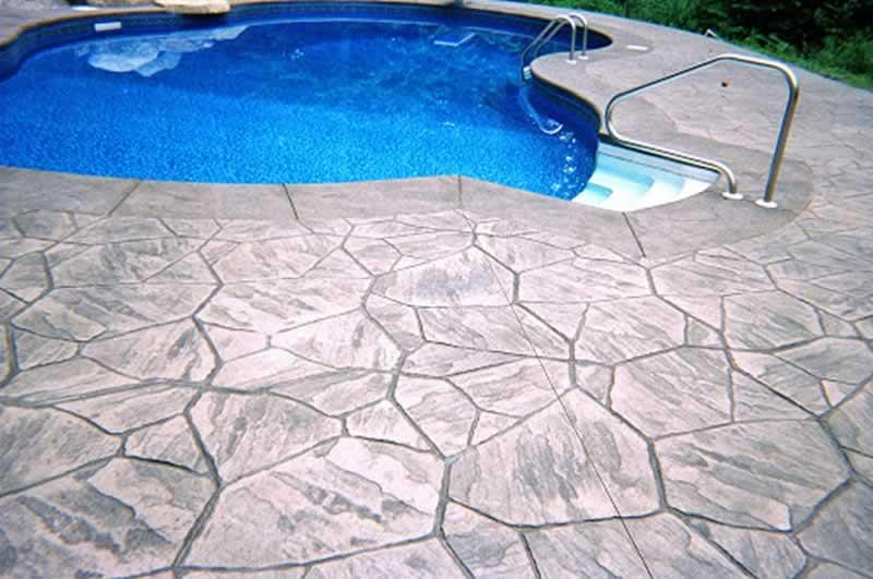 Pool Decks - Pavers Vs. Stamped Concrete - stamped concrete