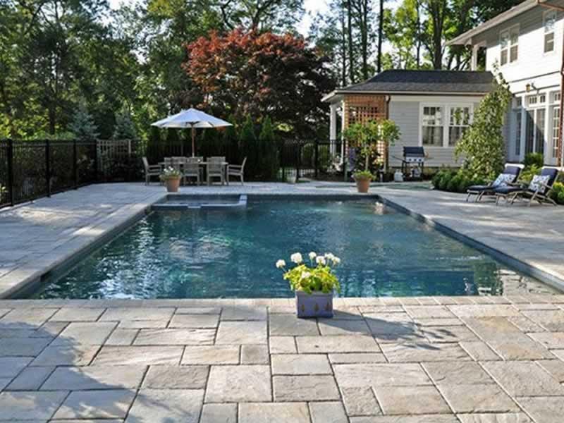 Pool Decks - Pavers Vs. Stamped Concrete