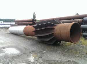 Spiralweld Pipe and Fin Piles - fin piles