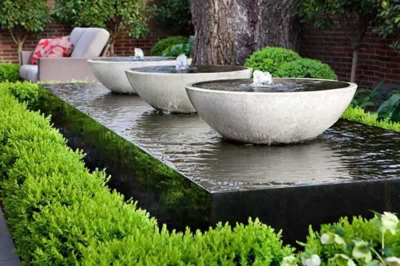 Using Firepits, Retaining Walls and Water Features in your Landscape - fountains