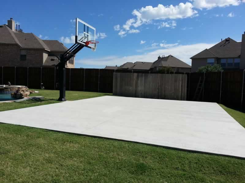What is the Best Type of Concrete for a Basketball Hoop - small court