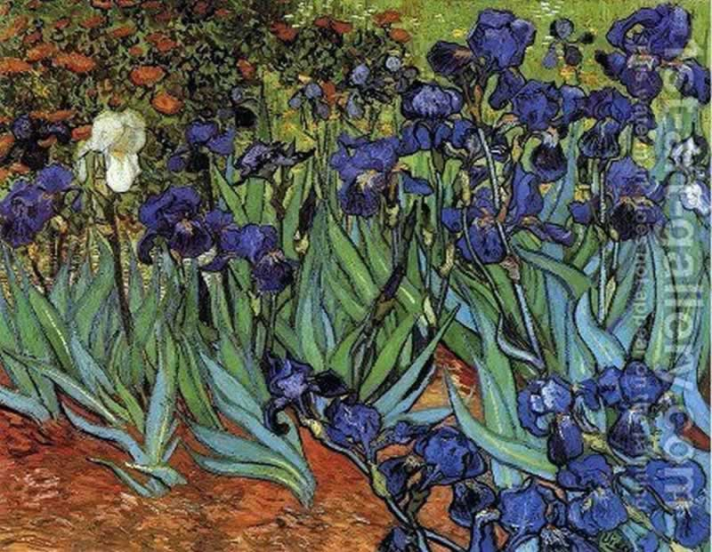 11 Oil Paintings Which will be Perfect for Your Living Room - irises