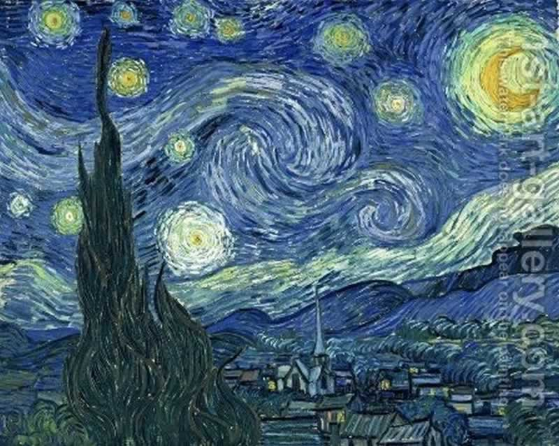 11 Oil Paintings Which will be Perfect for Your Living Room - the starry night