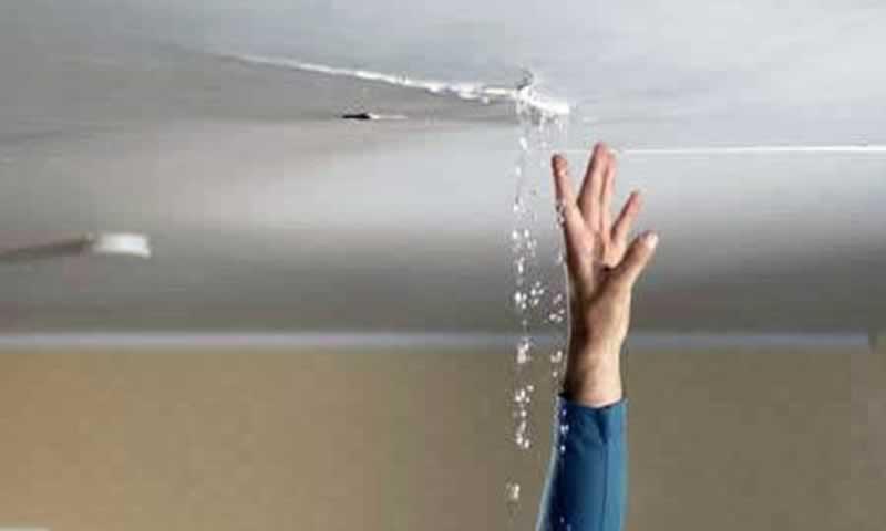 Appliance malfunction water damage - AC line leaking