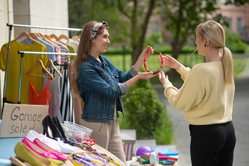 How to Save Money on Repairs after Buying a House - yard sale