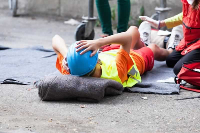 What are the three main causes of construction site accidents - accident