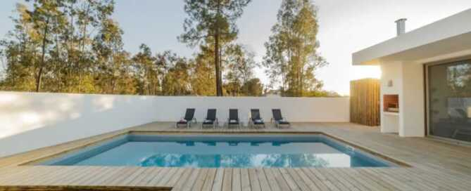 6 Popular Pool Decking Options - wooden deck