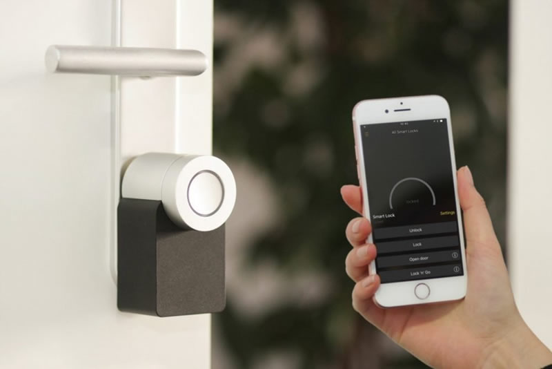 Everything You Need To Know About Smart Locks - opening with mobile