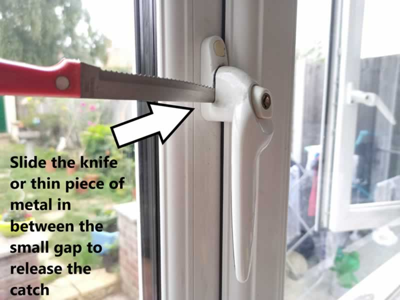 How To Unlock And Change A UPVC Window Handle - step 1