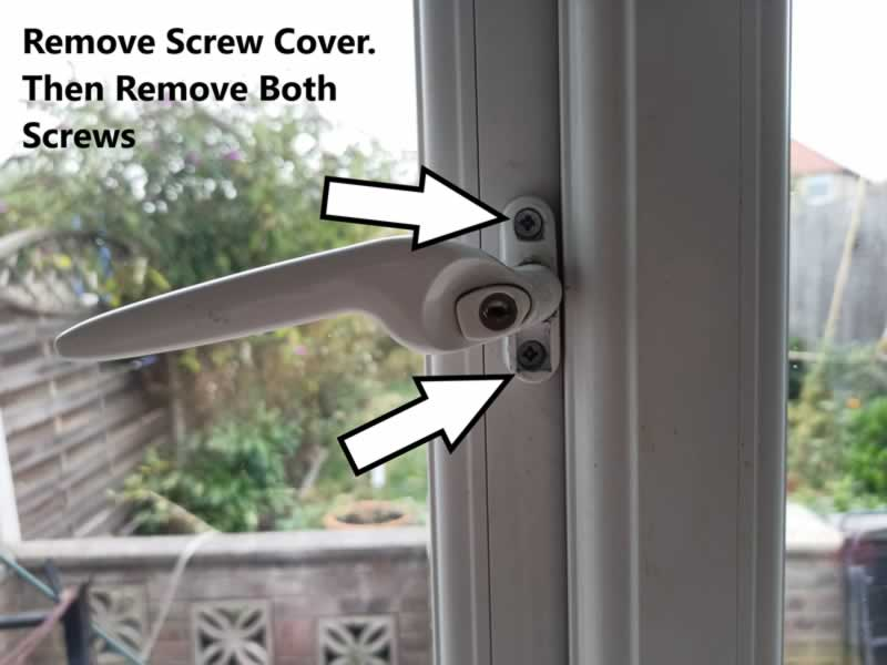 How To Unlock And Change A UPVC Window Handle - step 3
