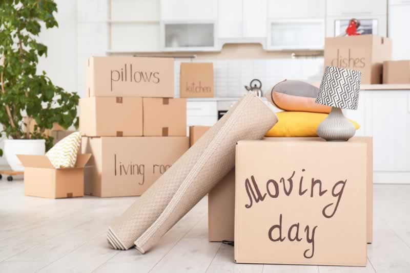 How to secure your belongings while moving - packed belongings