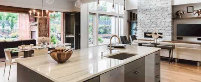 What Are the Main Differences Between Honed and Polished Marble Countertops - polished countertop