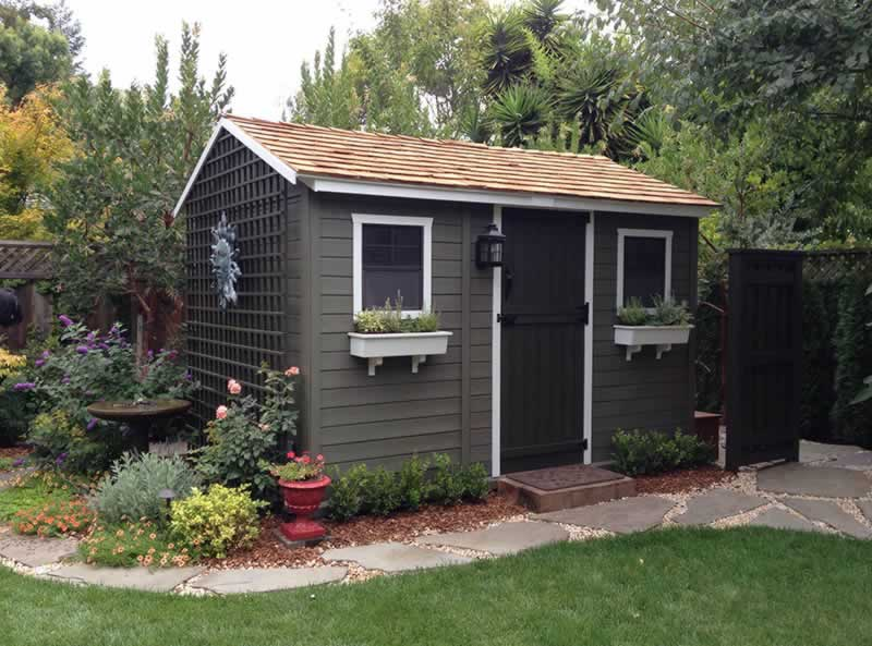 What are the advantages of backyard storage sheds