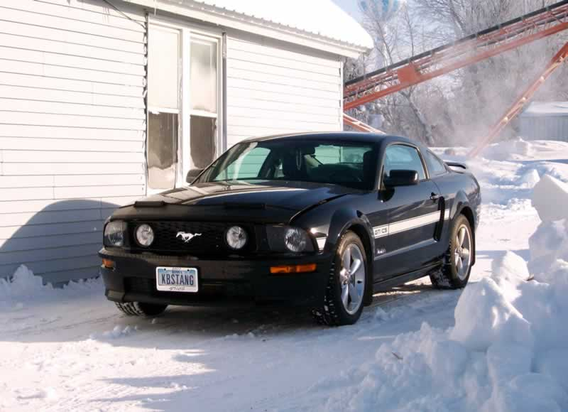 Winter Must-Haves For Your Ford Mustang - parked in snow