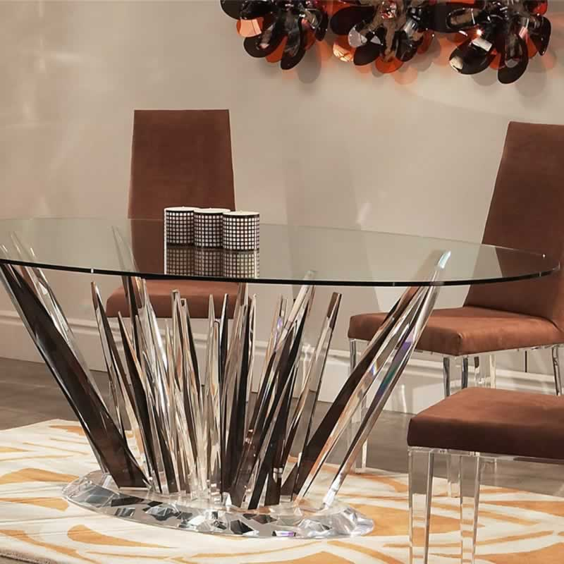 Recommended table base by tabletop size - amazing table