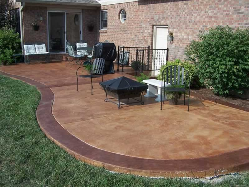 Reinforced Concrete and Landscaping - concrete patio