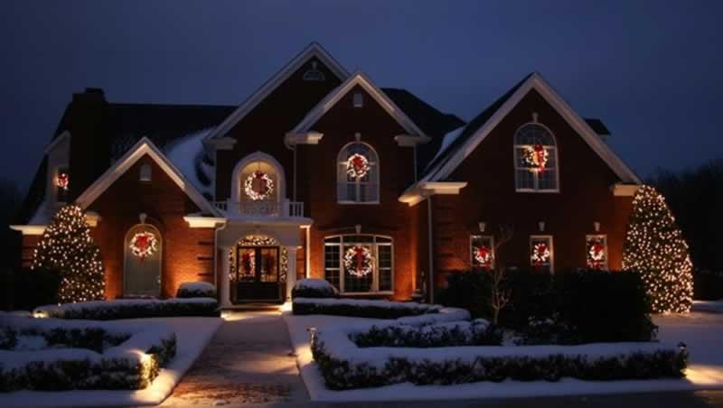 Hanging Up Lights Around Your Home - Christmas lights