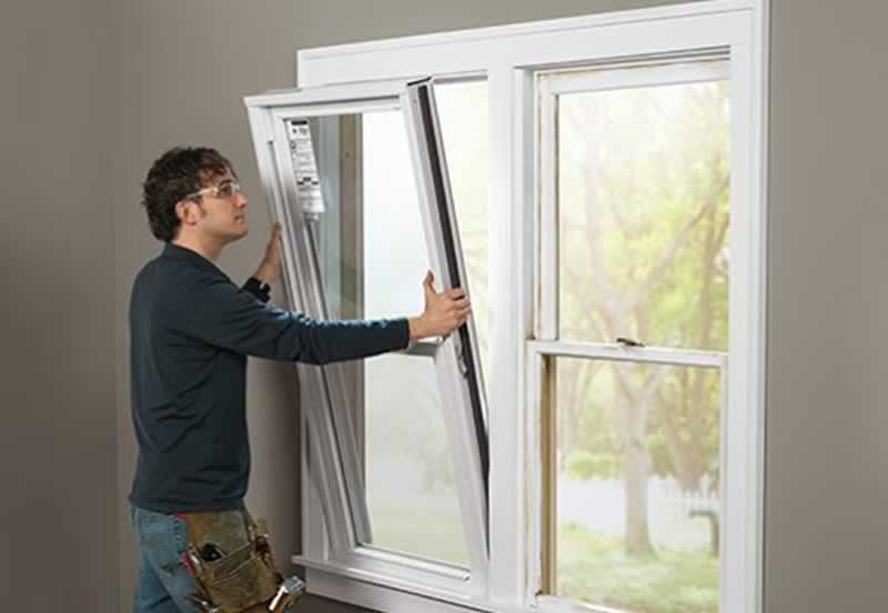How Replacement Windows Are Installed - replacing window