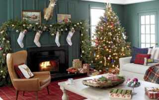 Impressive Designs For A Comfy Holiday Home - fireplace