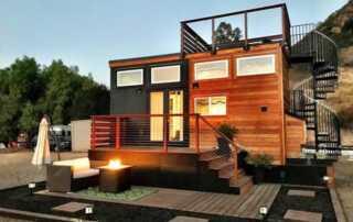 Tiny-House Inspired Concrete Patio Ideas