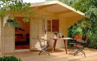 Tiny-House Inspired Concrete Patio Ideas - tiny house