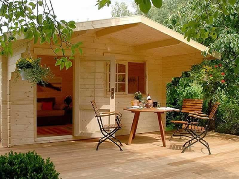 Tiny-House Inspired Concrete Patio Ideas - tiny house