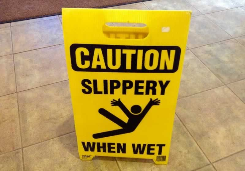 6 Critical Steps to Be Taken After You Fall on Someone's Property - slippery floor