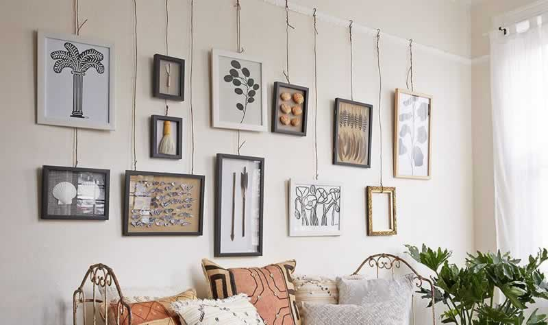 How to hang up wall art without damaging the wall