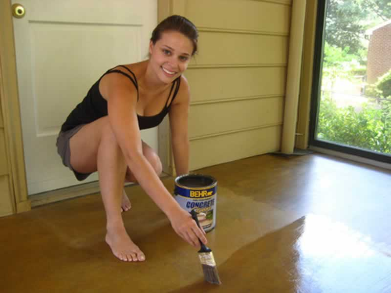 How to stain old concrete