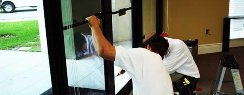 The Basics of Commercial Door Repair - repairing