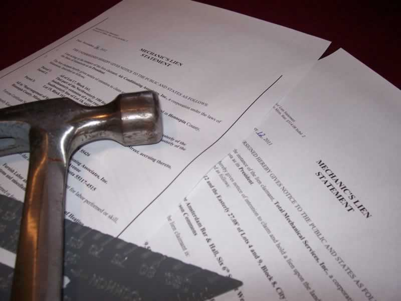 Tips on Filing Mechanic's Liens and Notices - lien