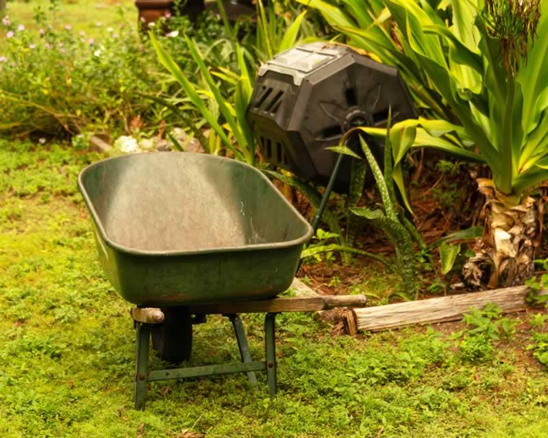 What is a Maze Compost Tumbler - wheelbarrow
