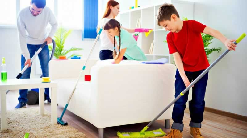 Your house will always be cleaner than others - family cleaning