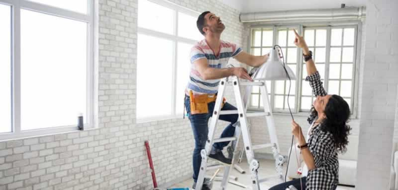 Home Improvement Projects To Consider Before Moving - hanging light