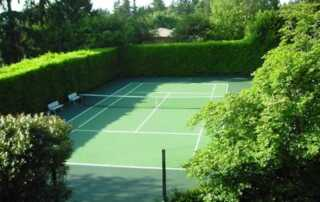 How to Build a Tennis Court in Your Backyard - home tennis court