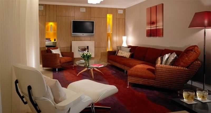 Modern wood paneling ideas for living rooms - display area