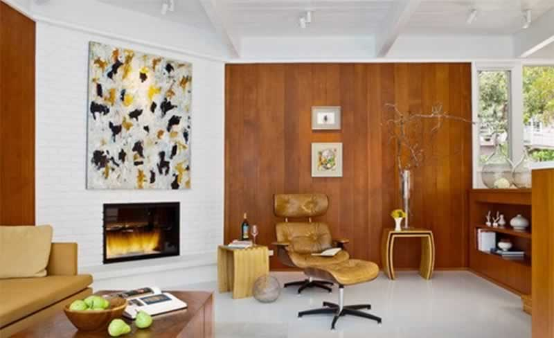 Modern wood paneling ideas for living rooms - more ideas