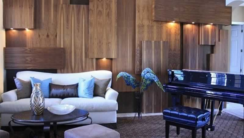 Modern wood paneling ideas for living rooms