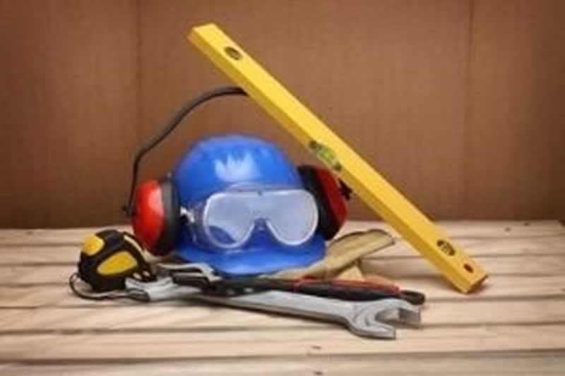 Plumbing Tool Bag Setup - safety tools