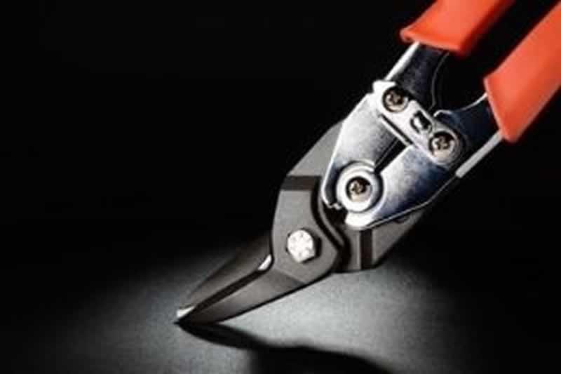 Plumbing Tool Bag Setup - tin snips