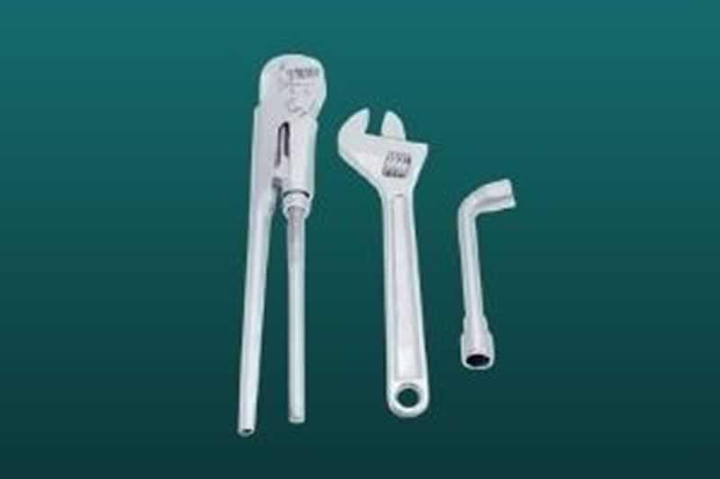 Plumbing Tool Bag Setup - wrenches